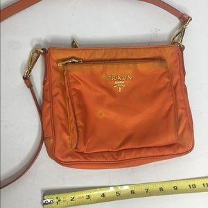 Prada small crossbody bag orange good hardware